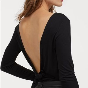 H&M Bodysuit with Low-cut Back New w tags L